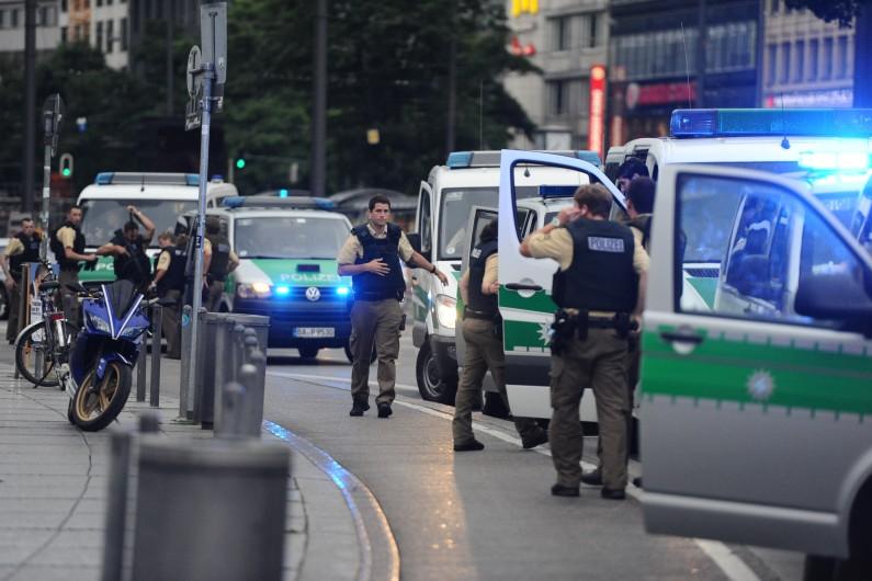 La police allemande en cours d'intervention à Munich, le 22 juillet 2016 (illustration)
