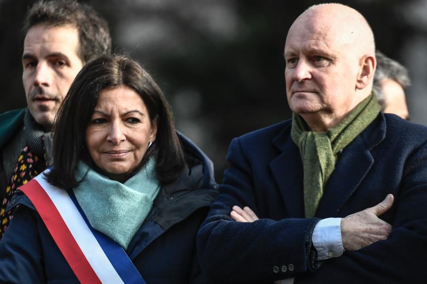 La maire de Paris Anne Hidalgo et Christophe Girard, adjoint à la Culture à la mairie de Paris.