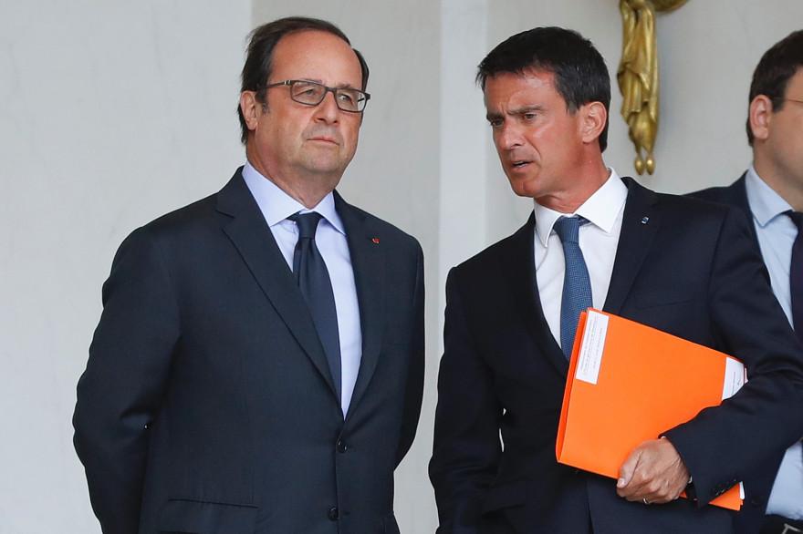 François Hollande et Manuel Valls, le 11 août 2016
