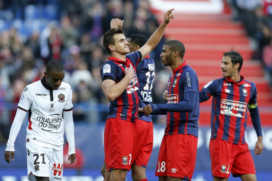 Caen a infligé sa première défaite en championnat à l'OGC Nice (1-0)