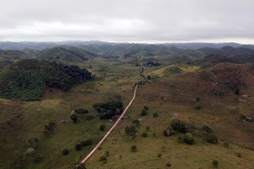 Une zone victime de déforestation au nord de Guatemala city