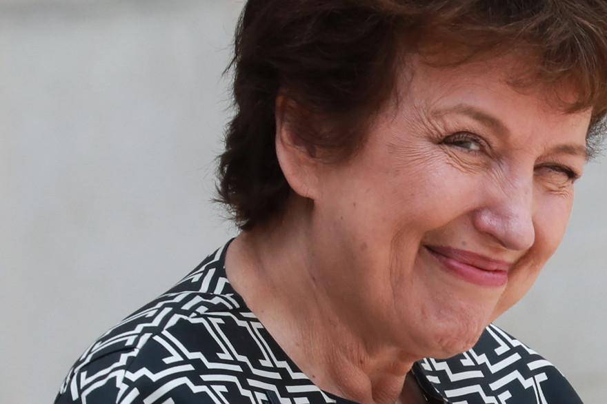 La ministre de la Culture Roselyne Bachelot à sa sortie de l'Élysée le 15 juillet 2020