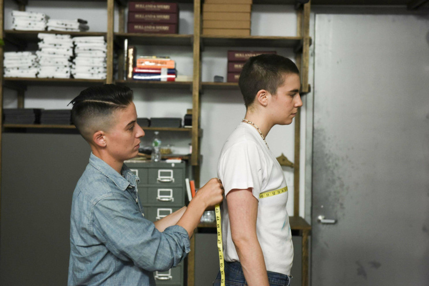 "Grace Dunham dans le documentaire ""Suited"" de Jason Benjamin"