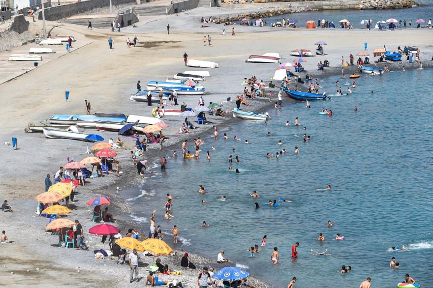 La plage El Kettani à Bab El Oued le 15 août 2020