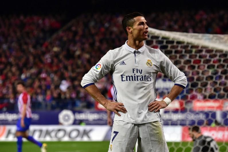 Cristiano Ronaldo lors du match contre l'Atletico Madrid le 19 novembre 2016