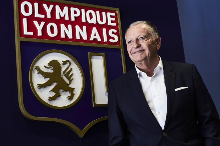 Jean-Michel Aulas au Parc OL le 29 juin 2017