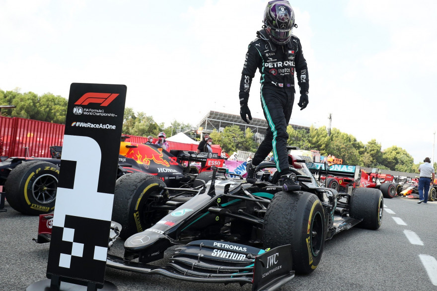 Lewis Hamilton à Montmelo le 16 août 2020