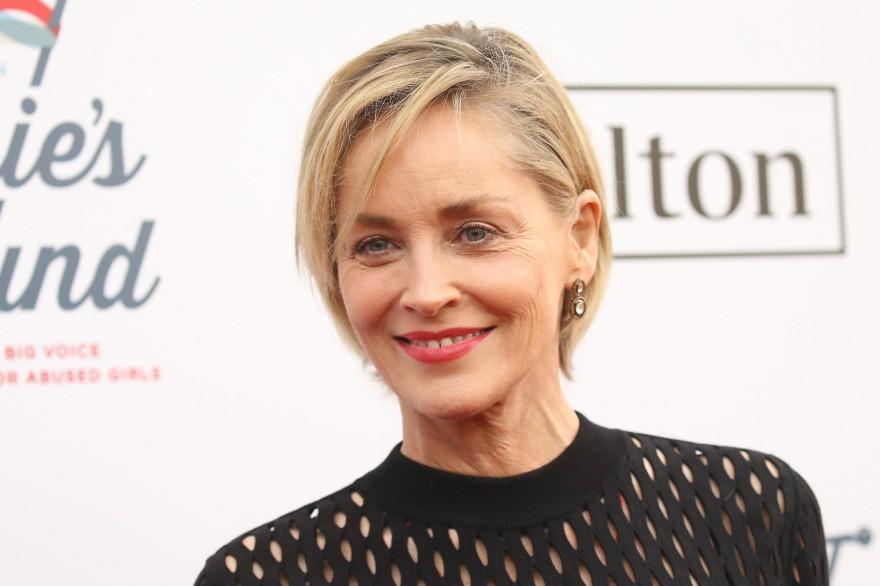 L'actrice américaine Sharon Stone le 10 février 2019 à Los Angeles, Californie.