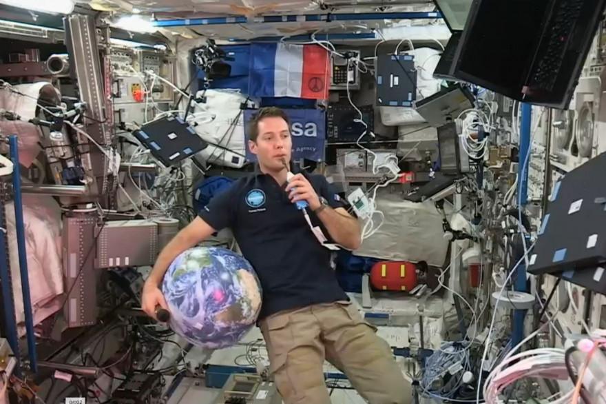 Thomas Pesquet s'est exprimé depuis l'espace pour la première fois le 23 novembre