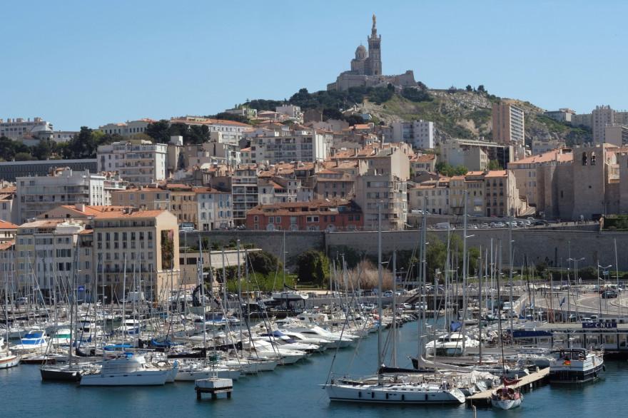 Le Vieux-Port à Marseille, le 21 avril 2017.