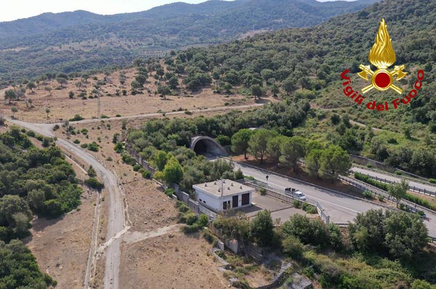Caronia près de Messina (Sicile) où les recherches se sont intensifiées pour retrouver Viviana Parisi et son fils Gioele, le 8 août 2020.