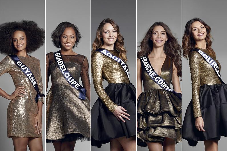 Découvrez les visages des 30 candidates au titre de Miss France 2017