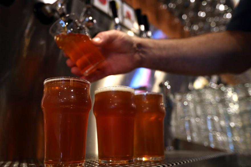 Des verres de bière (Illustration).