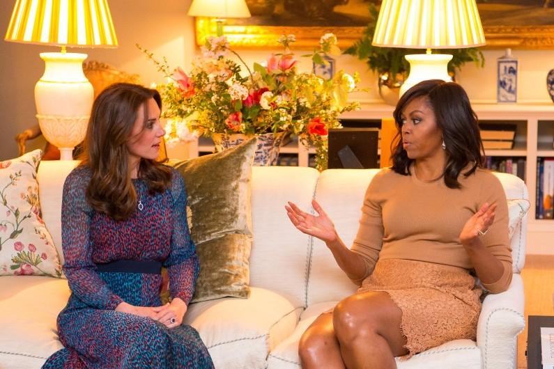 Kate Middleton et Michelle Obama se sont vues pour la dernière fois à Londres, en avril 2016
