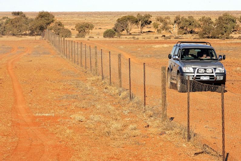 Une voiture sur une route de l'outback australien