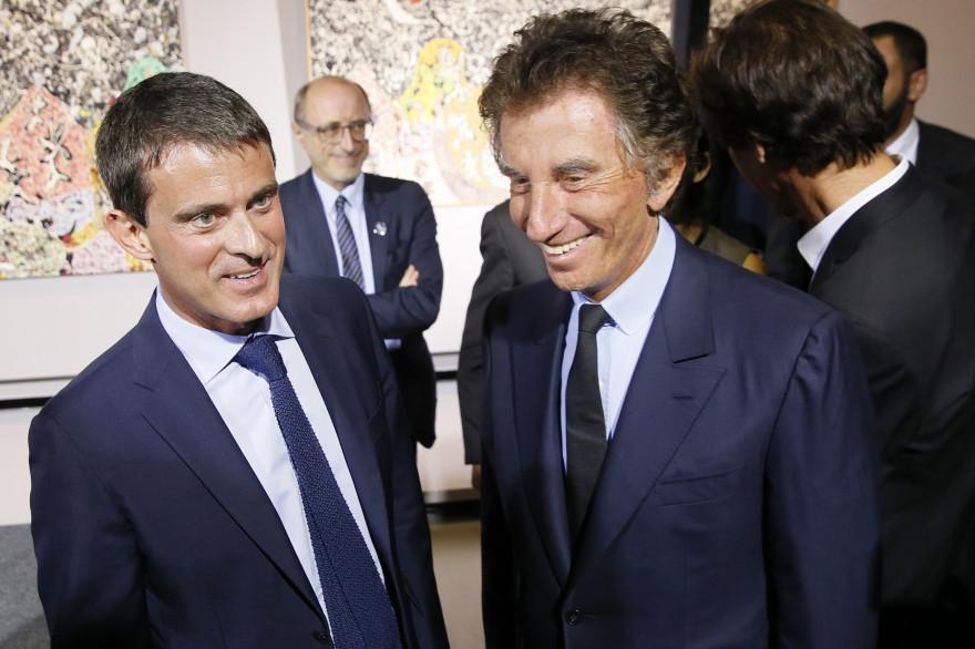 Jack Lang et Manuel Valls, le 15 septembre 2014 à paris