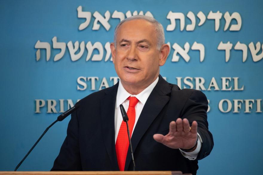 Le Premier ministre israélien, Benjamin Netanyahu, lors de sa prise de parole le dimanche 13 septembre 2020.