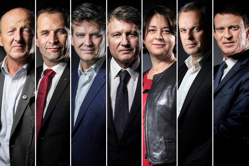 Les sept candidats de la primaire de la gauche