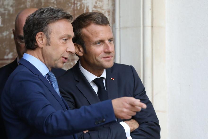 Stéphane Bern et Emmanuel Macron le 20 septembre 2019