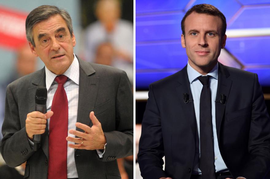 François Fillon et Emmanuel Macron, candidats à l'élection présidentielle de 2017.