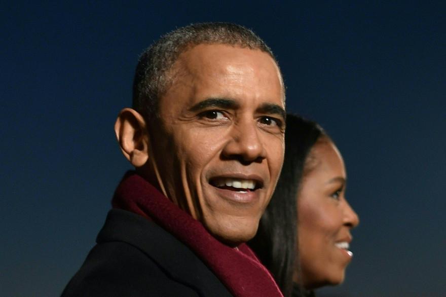 Barack Obama et sa femme Michelle, le 1er décembre 2016 à Washington.