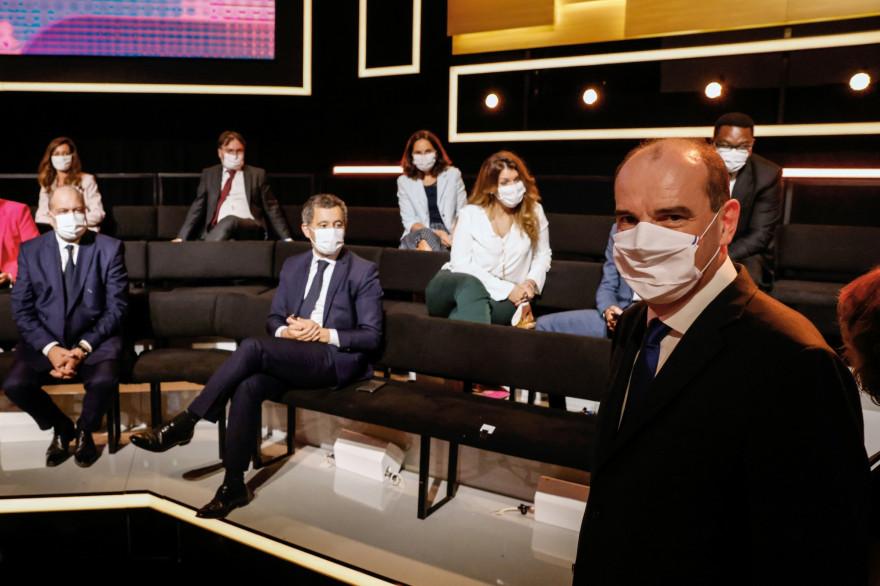 """Jean Castex, sur le plateau de """"Vous avez la parole"""", le 24 septembre 2020"""
