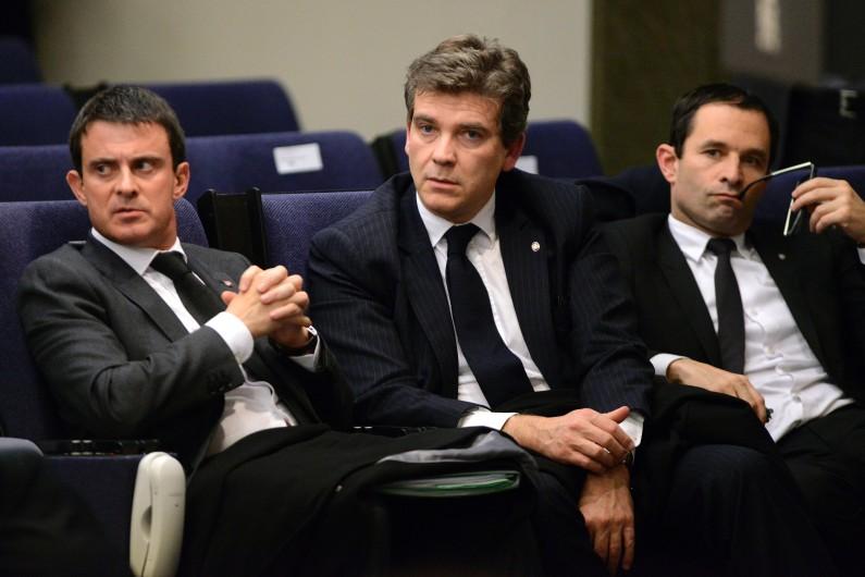 Manuel Valls, Arnaud Montebourg et Benoît Hamon, le 27 novembre 2013