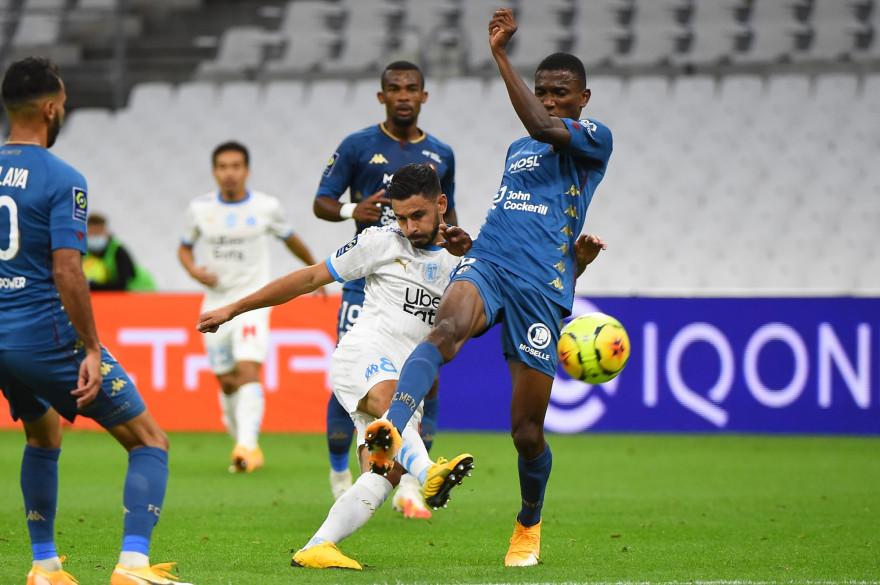 Morgan Sanson, contre le FC Metz, le 26 septembre 2020