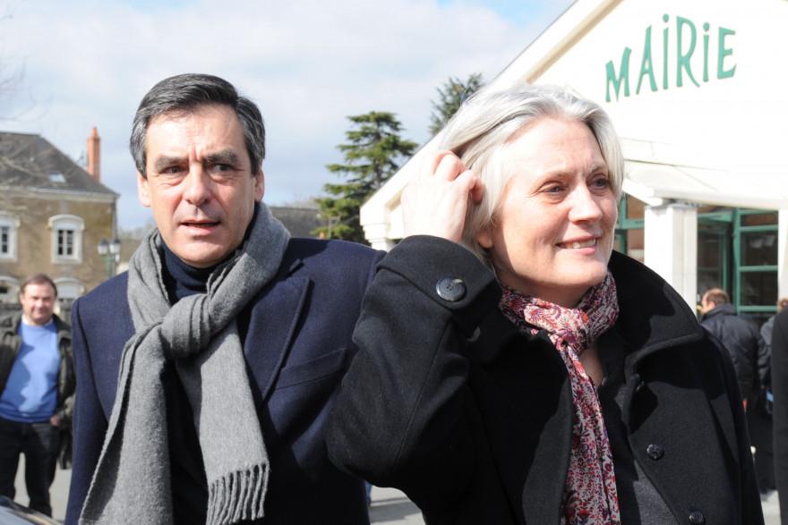 François et Pénélope Fillon le 21 mars 2010 à Solesmes
