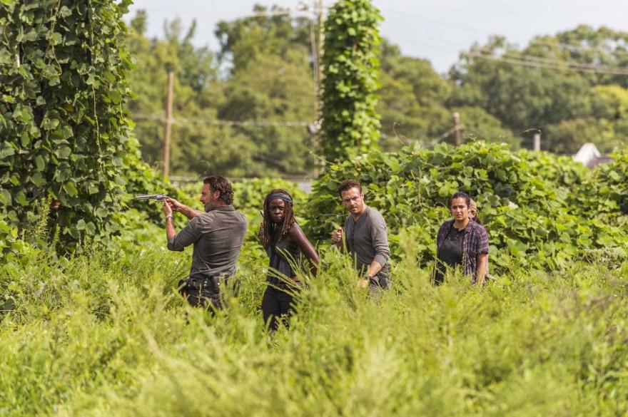 """Rick et ses compagnons dans """"The walking Dead"""""""