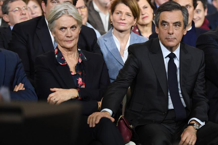 Penelope et François Fillon, lors du meeting de la Villette le 29 janvier2017
