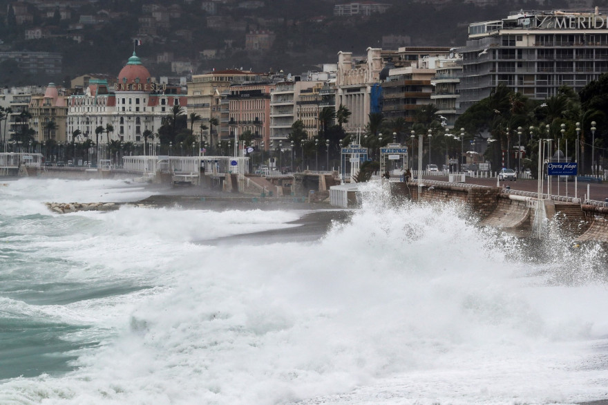 Le passage de la tempête Alex à Nice, le 2 octobre 2020.