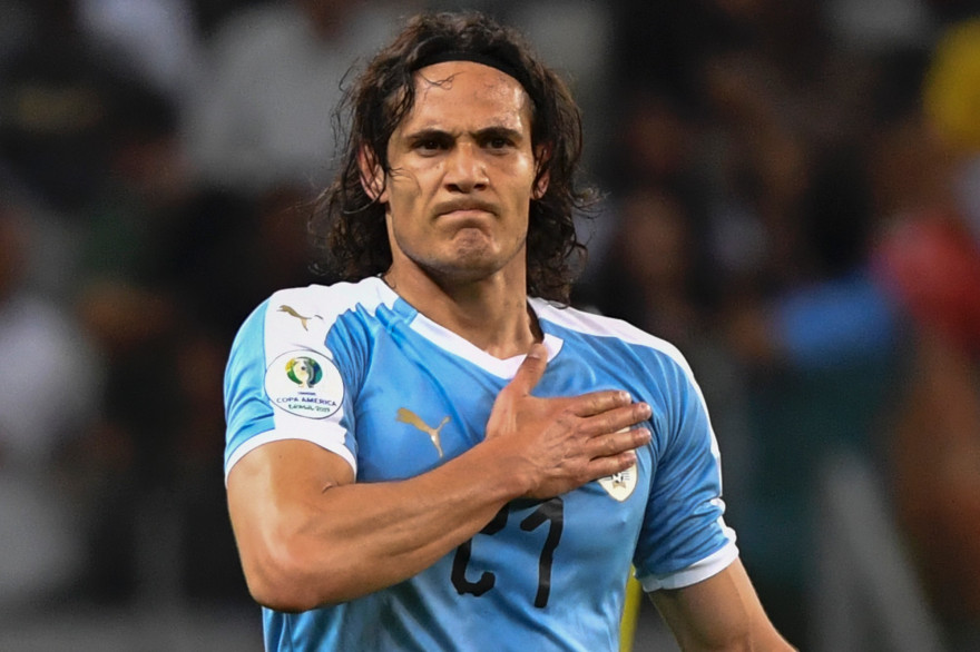 Edinson Cavani avec l'Uruguay en 2019