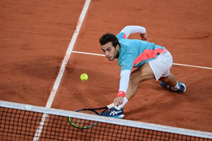 Hugo Gaston à Roland-Garros le 4 octobre 2020