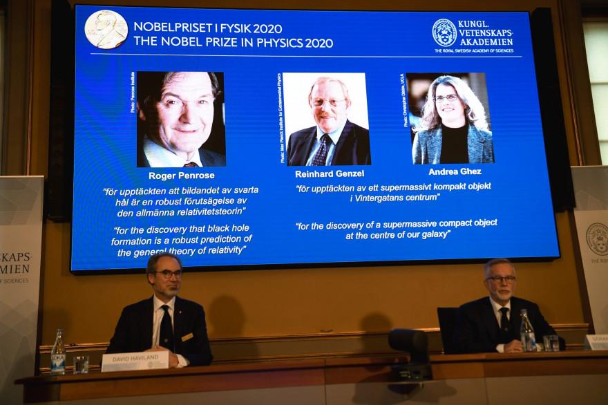 Le prix Nobel 2020 e Physique a été attribué à Roger Penrose, Reinhard Genzel et Andrea Genzel pour leurs travaux sur les trous noirs