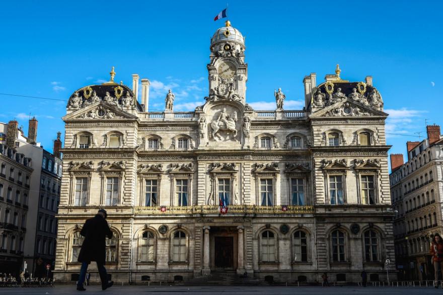 L'hôtel de ville de Lyon (Illustration).