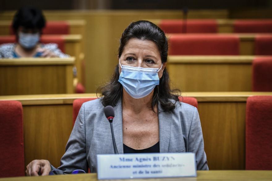 L'ancienne ministre de la Santé Agnès Buzyn, devant la commission d'enquête du Sénat à Paris, le 23 septembre 2020.