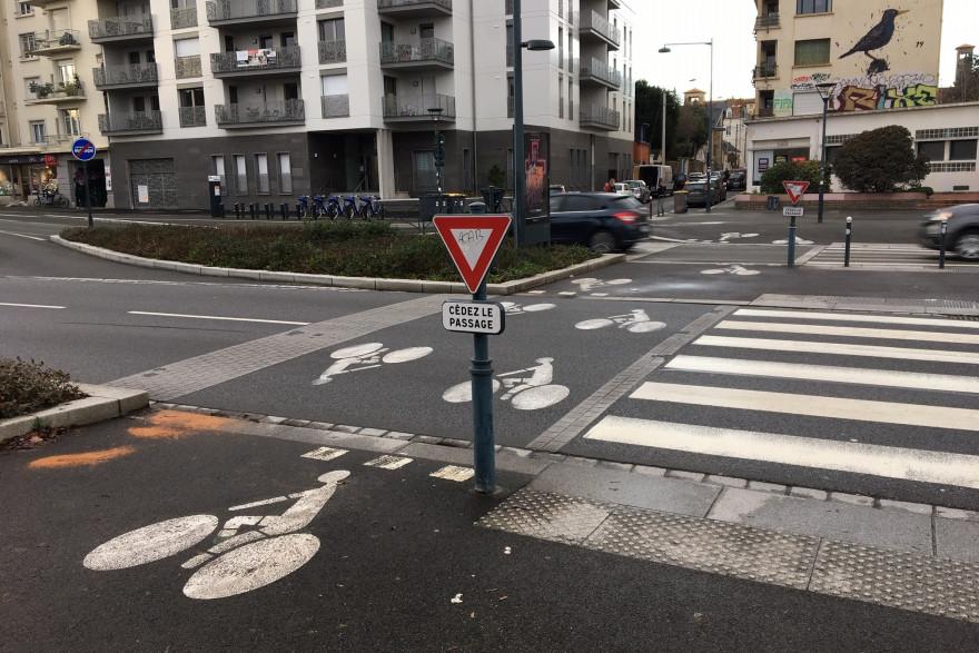Le lieu de l'accident mortel à Rennes.