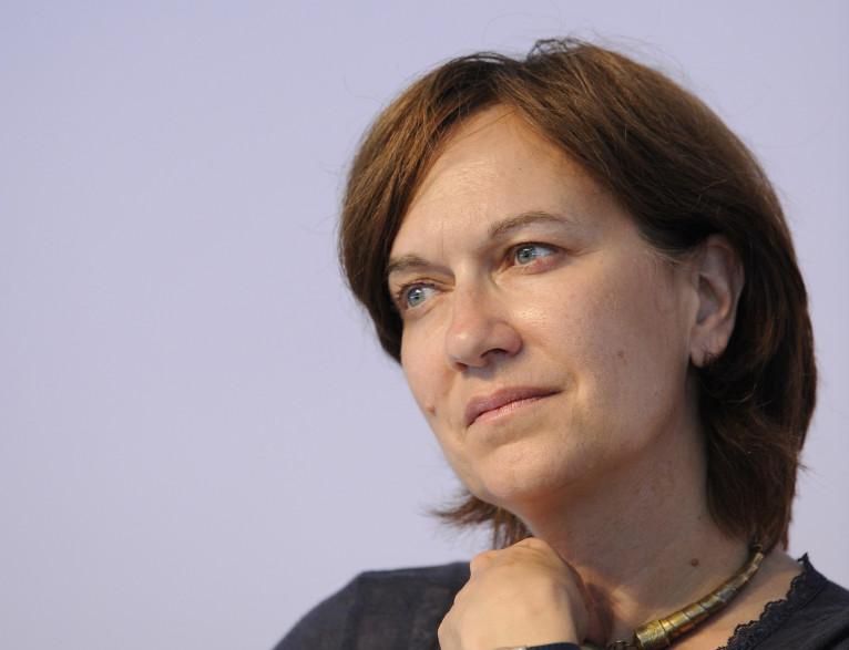 La secrétaire d'État à la Famille, Laurence Rossignol, en août 2010 à La Rochelle (photo d'Archives).