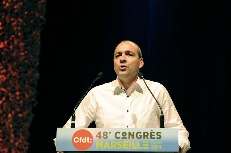 Laurent Berger a été réélu à la tête de la CFDT, ce jeudi 5 juin 2014.
