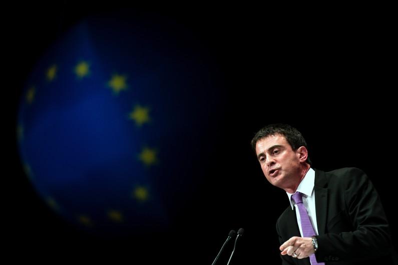 Manuel Valls à Lyon le 23 mai 2014 (Archives).