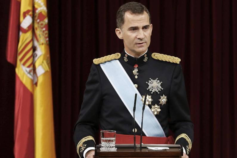 """""""La lutte contre la corruption est un objectif irréfutable"""" selon le roi d'Espagne, Felipe VI, le 19 juin 2014 (Archives)."""