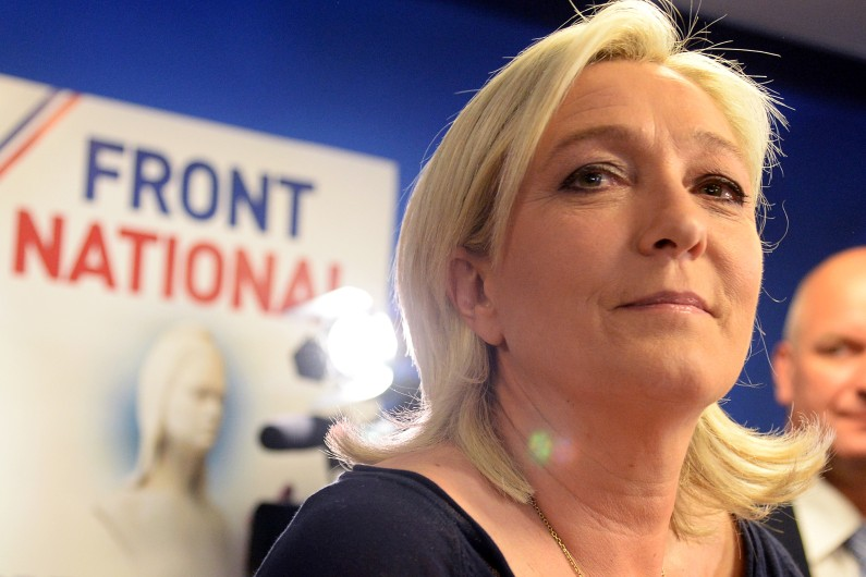 La présidente du Front national (FN), Marine Le Pen, le 25 mai 2014 (Archives).