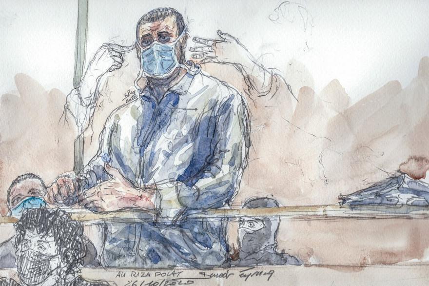 Ali Riza Polat lors du procès des attentats de janvier 2015, le 26 octobre 2020.