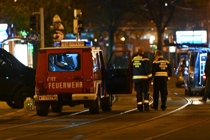 La police autrichienne, après les fusillades à Vienne, le 2 novembre 2020