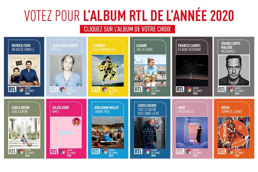 Les artistes sélectionnés pour l'album RTL de l'année 2020