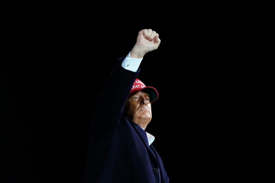 Donald Trump en meeting à Des Moines (Iowa), le 14 octobre 2020