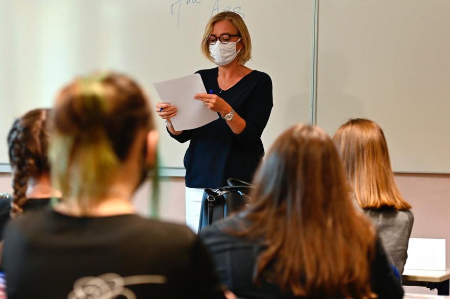Une classe de lycée pendant l'épidémie de coronavirus (illustration)