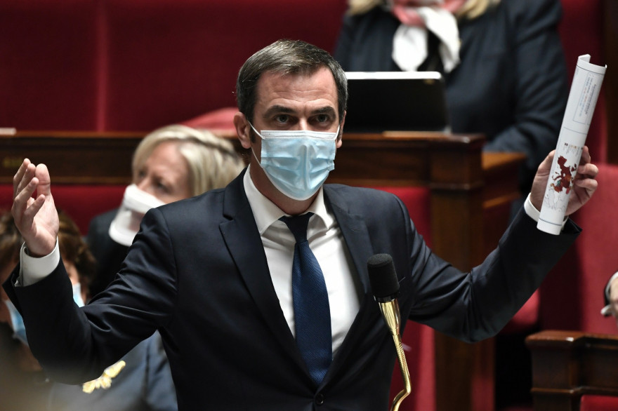 Olivier Véran à l'Assemblée nationale le 3 novembre 2020