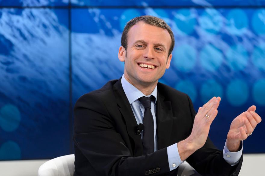 Emmanuel Macron au forum économique mondial de Davos le 22 janvier 2016.